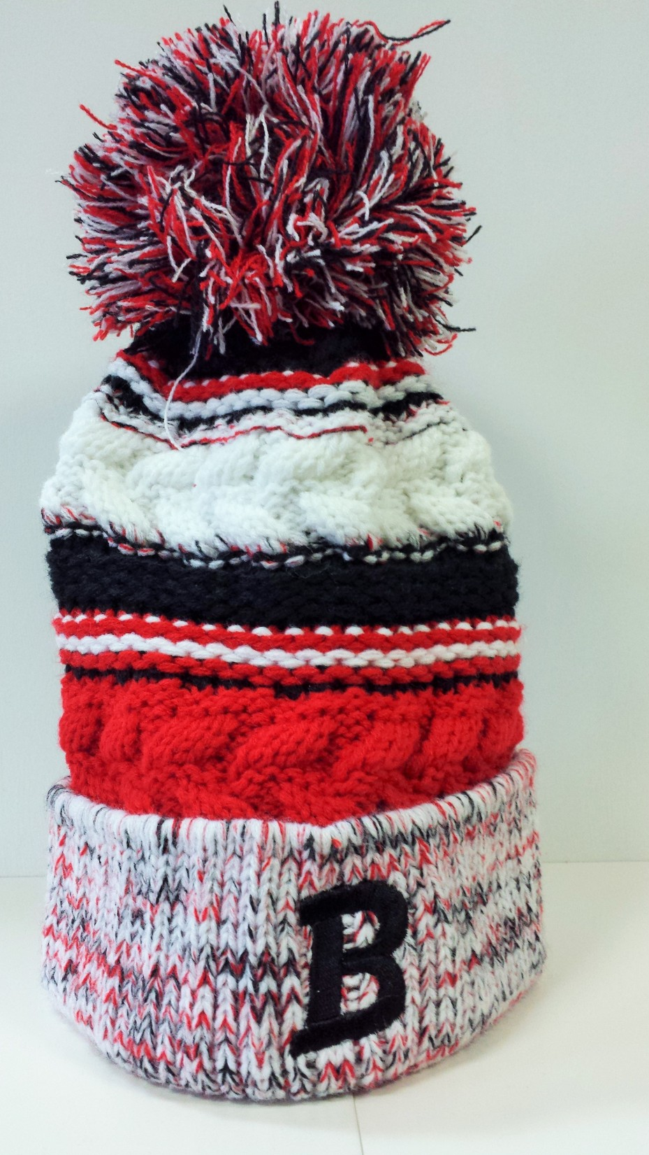 418f2d67036 Pom Pom Beanie Hat - Bedford Kicking Mules - Embroidered B